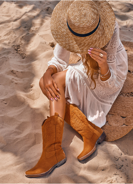 botki kowbojskie na lato