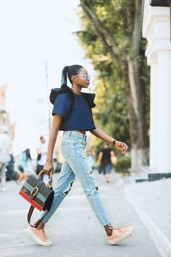 spodnie jeansy stylizacja